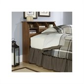 Sauder Shoal Creek Twin Bookcase Headboard in Oiled Oak