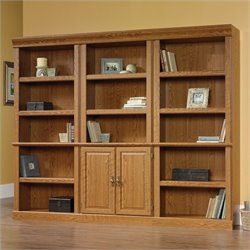 Sauder Orchard Hills Wall Library in Carolina Oak finish