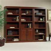 Sauder Heritage Hill 3 Shelves Wall Bookcase With Cabinet in Cherry