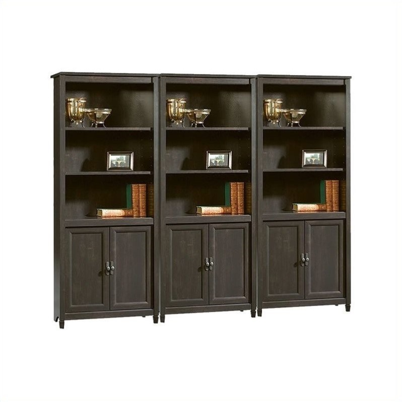 Edge Water Library Wall Bookcase in Estate Black