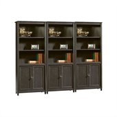 Sauder Edge Water Library Wall Bookcase in Estate Black