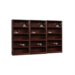 Sauder 5 Shelf Wall Bookcase in Select Cherry