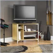 Sauder Chatter Panel TV Stand in Rice / White Oak