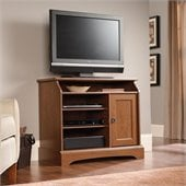 Sauder Graham Hill Highboy TV Stand in Autumn Maple