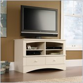 Sauder Harbor View Universal TV Stand in Antiqued White