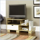 Sauder Juice Panel TV Stand in Rice / White Oak