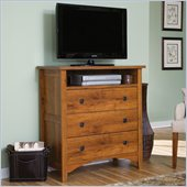 Sauder Rose Valley Highboy TV Stand in Abbey Oak