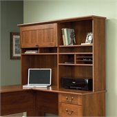 Sauder Select Hutch in Shaker Cherry