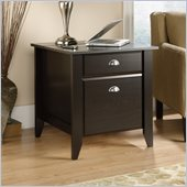 Sauder Shoal Creek Smartcenter Side Table in Jamocha Wood