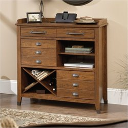 Sauder Carson Forge Sideboard Console in Washington Cherry