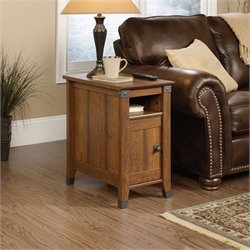 Sauder Carson Forge Side Table in Washington Cherry