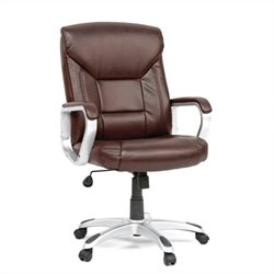 Sauder Executive Office Chair Leather Brown in Office Chair Brown