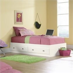 Sauder Shoal Creek Mates Bed in Soft White Finish
