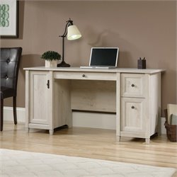 Sauder Edge Water Computer Desk in Chalked Chestnut