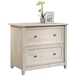 Sauder Edge Water File Cabinet in Chalked Chestnut