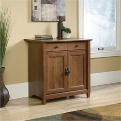 Sauder Edge Water 2 Door Chest in Auburn Cherry