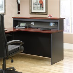 Sauder Via Reception Desk in Classic Cherry