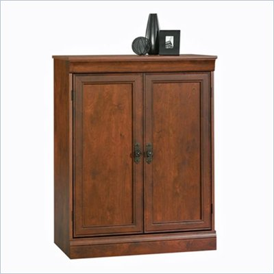 Sauder Arbor Gate Laptop Armoire in Coach Cherry