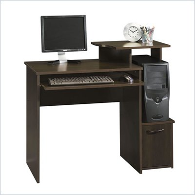 Sauder Office Beginnings Wood Computer Desk in Cinnamon Cherry