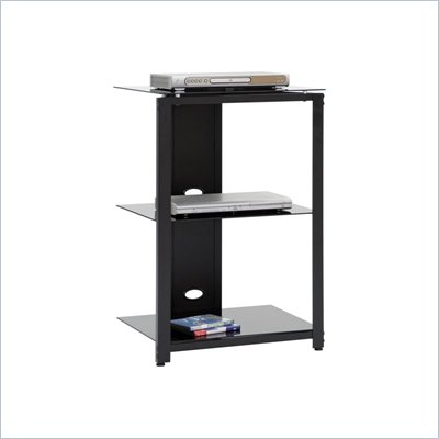 Sauder Beginnings Technology Pier in Black/Black Glass