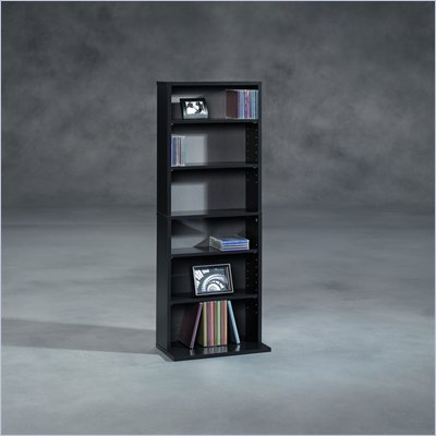 Sauder Beginnings Multimedia Storage Tower in Black