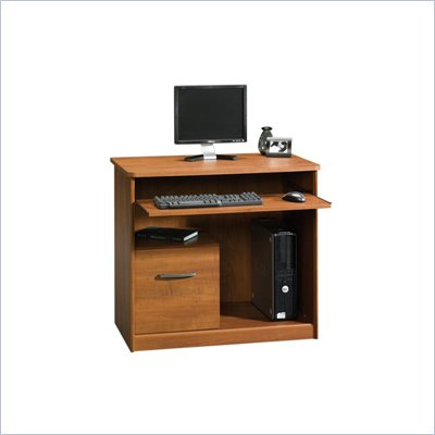 Sauder Camber Hill Computer Cart in Sand Pear
