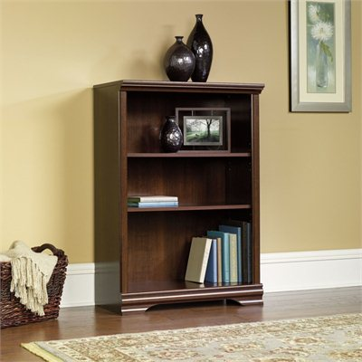 Sauder Carolina Estate 3-Shelf Bookcase in Select Cherry