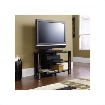 Sauder Chroma Panel TV Stand in Black