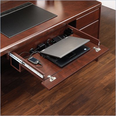 Sauder Cornerstone Laptop Drawer in Classic Cherry