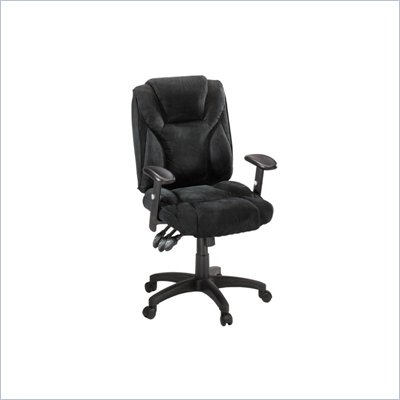 Sauder Gruga Fabric Ergonomic Chair in Black