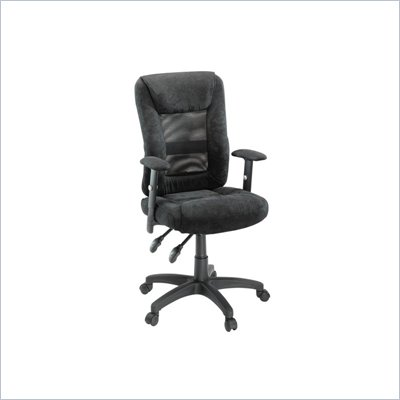 Sauder Gruga Mesh Ergonomic Chair in Black