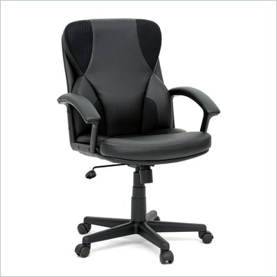 Sauder Gruga Duraplush Managers Chair in Black