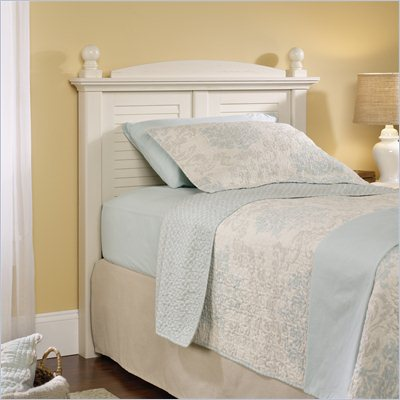 Sauder Harbor View Twin Headboard in Antiqued White