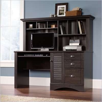 Sauder Harbor View Computer Desk w/ Hutch in Antiqued Paint