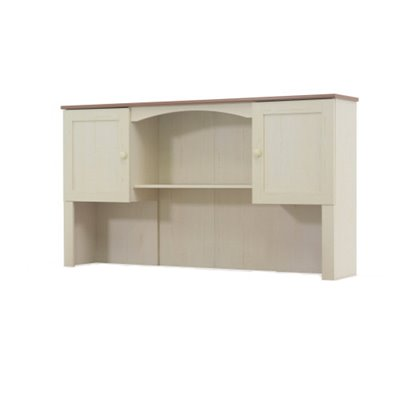 Sauder Harbor View Hutch For 403793 in Antiqued White