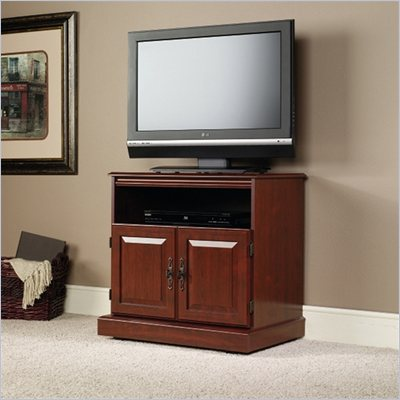 "Sauder Heritage Hill 29"" TV Cart in Classic Cherry"