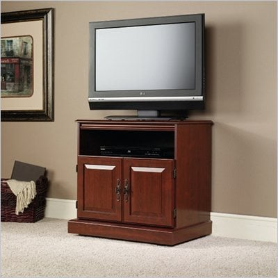 Sauder Heritage Hill 29&quot; TV Cart in Classic Cherry