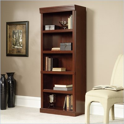 Sauder Heritage Hill 5 Shelves Bookcase in Classic Cherry Finish