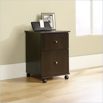 Sauder File Mobile Filing Cabinet in Cinnamon Cherry