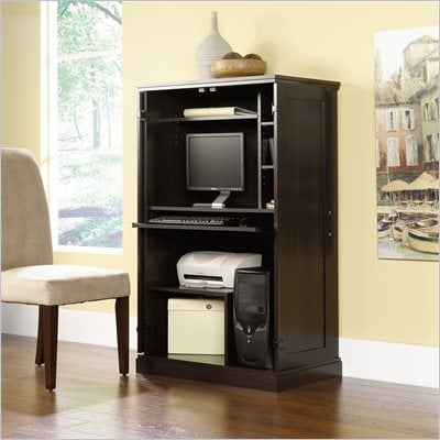 Sauder Cinnamon Cherry Computer Armoire