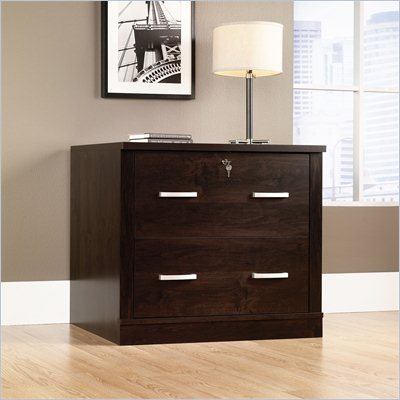 Sauder Office Port File Cabinet in Dark Alder