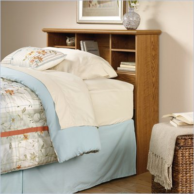 Sauder Orchard Hills Twin Bookcase Headboard in Oak Finish