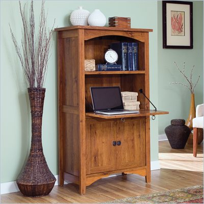 Sauder Rose Valley Laptop Armoire in Abbey Oak