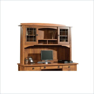 Sauder Rose Valley Hutch For 404978 in Abbey Oak