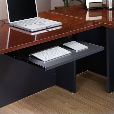 Sauder Via Keyboard Shelf in Soft Black