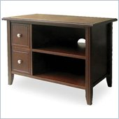 Winsome Solid Beechwood TV Stand in Antique Walnut