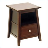 Winsome Angolo Solid Wood Accent Table in Antique Walnut