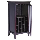 Winsome Espresso Wine Cabinet with Glass Door