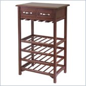 Winsome Solid Wood Wine Rack in Antique Walnut