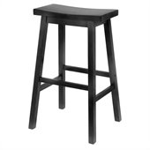 Winsome 29 Bar Height Saddle Stool in Black